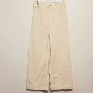 Free People Patti crop cotton pants in cream
